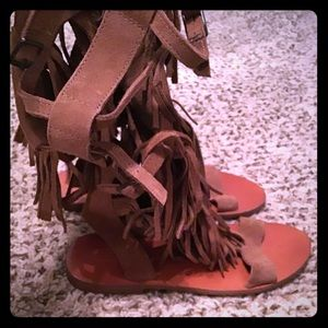 Real Leather flats Gladiator sandal
